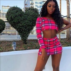 Two piece pink set